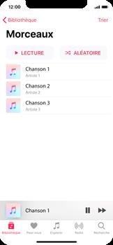 Apple iPhone X - Photos, vidéos, musique - Ecouter de la musique - Étape 5