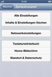 Apple iPhone 4 S - Fehlerbehebung - Handy zurücksetzen - 7 / 10