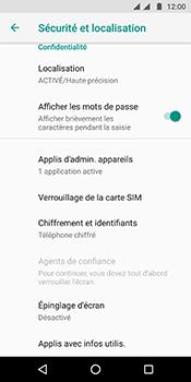Motorola Moto G6 - Sécuriser votre mobile - Personnaliser le code PIN de votre carte SIM - Étape 5
