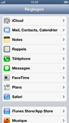 Apple iPhone 5 - Applications - configuration du service iCloud d