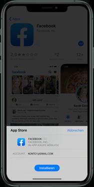 Apple iPhone XS - iOS 13 - Apps - Einrichten des App Stores - Schritt 24