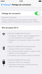 Apple iPhone 6 iOS 8 - Internet et connexion - Partager votre connexion en Wi-Fi - Étape 7