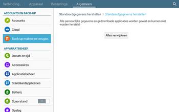 Samsung Galaxy Tab4 10.1 4G (SM-T535) - Instellingen aanpassen - Fabrieksinstellingen terugzetten - Stap 8