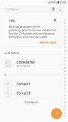 Samsung Galaxy S6 Edge - Android Nougat - Contacten en data - Contacten kopiëren van toestel naar SIM - Stap 4