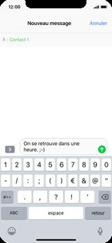Apple iPhone X - Contact, Appels, SMS/MMS - Envoyer un SMS - Étape 8
