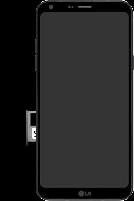 LG Q6 - SIM-Karte - Einlegen - 6 / 8