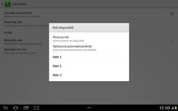 Samsung Galaxy Tab 2 10.1 - Rete - Selezione manuale della rete - Fase 8