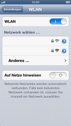Apple iPhone 5 - WLAN - Manuelle Konfiguration - Schritt 5