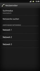 Sony Xperia S - Netzwerk - Manuelle Netzwerkwahl - Schritt 9