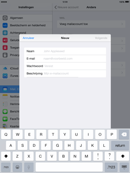 Apple The New iPad iOS 8 - E-mail - Account instellen (POP3 zonder SMTP-verificatie) - Stap 7