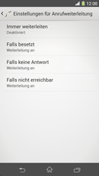 Sony Xperia Z1 - Anrufe - Rufumleitungen setzen und löschen - 2 / 2