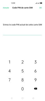 Oppo Reno 4 - Sécuriser votre mobile - Personnaliser le code PIN de votre carte SIM - Étape 9