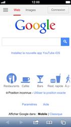 Apple iPhone 5 - Internet et roaming de données - Navigation sur Internet - Étape 4