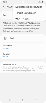 Samsung Galaxy S20 Plus 5G - WiFi - So aktivieren Sie einen WLAN-Hotspot - Schritt 8