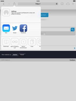 Apple iPad mini iOS 7 - Internet and data roaming - using the Internet - Step 14