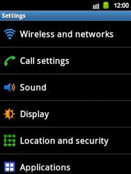Samsung Galaxy Y - Internet and data roaming - Disabling data roaming - Step 4