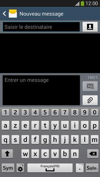Samsung Galaxy Note 3 - Contact, Appels, SMS/MMS - Envoyer un SMS - Étape 5