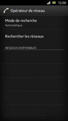 Sony Xperia U - Réseau - Sélection manuelle du réseau - Étape 7