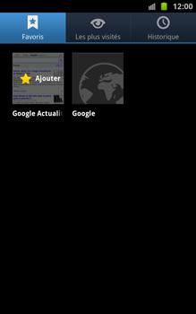 Samsung N7000 Galaxy Note - Internet - navigation sur Internet - Étape 8