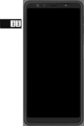 Samsung Galaxy A7 (2018) - Toestel - simkaart plaatsen - Stap 6
