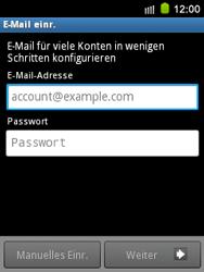 Samsung S5570 Galaxy Mini - E-Mail - Konto einrichten - Schritt 5
