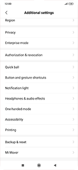 Xiaomi RedMi Note 7 - Mobile phone - Resetting to factory settings - Step 4