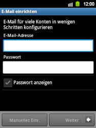 Samsung Galaxy Y - E-Mail - Manuelle Konfiguration - Schritt 5