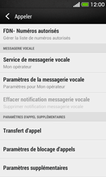HTC Desire 500 - Messagerie vocale - configuration manuelle - Étape 6
