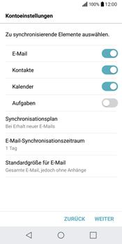 LG Q6 - E-Mail - Konto einrichten (outlook) - Schritt 9
