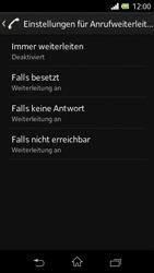 Sony Xperia L - Anrufe - Rufumleitungen setzen und löschen - 6 / 9