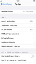 Apple iPhone 8 - iOS 13 - Anrufe - Rufumleitungen setzen und löschen - Schritt 4