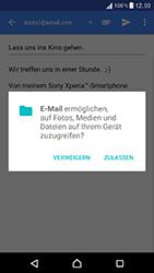 Sony Xperia XZ - E-Mail - E-Mail versenden - 10 / 16