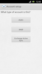 Sony Xperia U - E-mail - Manual configuration - Step 6