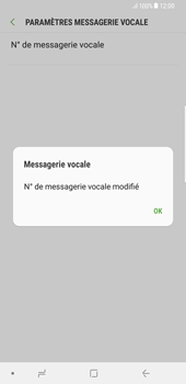 Samsung Galaxy S8 Plus - Android Oreo - Messagerie vocale - Configuration manuelle - Étape 9