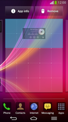 LG D955 G Flex - Getting started - Installing widgets and applications on your start screen - Step 6