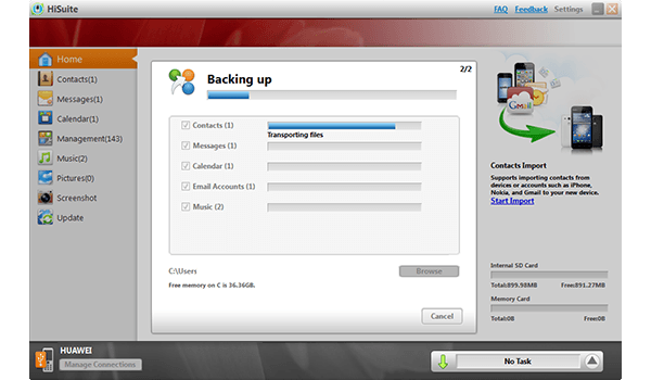 Huawei Ascend P6 - Software - How to make a backup of your device - Step 7