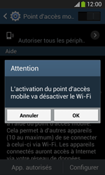 Samsung Galaxy Ace 3 - Internet et connexion - Partager votre connexion en Wi-Fi - Étape 11