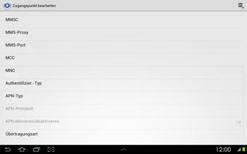 Samsung Galaxy Tab 2 10-1 - Internet - Manuelle Konfiguration - 13 / 25
