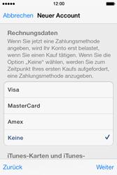 Apple iPhone 4 S mit iOS 7 - Apps - Konto anlegen und einrichten - Schritt 29