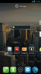 Alcatel One Touch Idol - Operazioni iniziali - Installazione di widget e applicazioni nella schermata iniziale - Fase 5