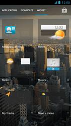 Alcatel One Touch Idol - Operazioni iniziali - installazione di widget e applicazioni nella schermata iniziale - Fase 4
