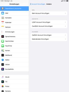 Apple iPad mini (2019) - iPadOS 13 - E-Mail - Manuelle Konfiguration - Schritt 6