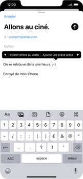 Apple iPhone 11 - E-mail - envoyer un e-mail - Étape 9