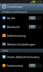 Samsung Galaxy S3 Mini - Netzwerk - Netzwerkeinstellungen ändern - 4 / 7