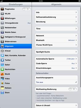 Apple iPad 2 - Ausland - Auslandskosten vermeiden - Schritt 5