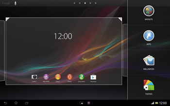 Sony Xperia Tablet Z LTE - Getting started - Installing widgets and applications on your start screen - Step 3