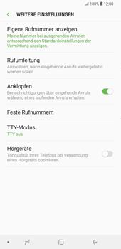 Samsung Galaxy S9 Plus - Anrufe - Rufumleitungen setzen und löschen - Schritt 8