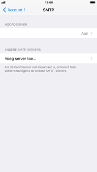 Apple iPhone 6 Plus - iOS 11 - E-mail - Account instellen (POP3 zonder SMTP-verificatie) - Stap 20