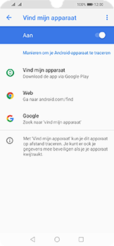 Huawei Y6 (2019) - Toestel - stel Zoek mijn mobiel in - Stap 6