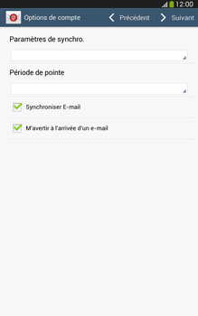 Samsung T315 Galaxy Tab 3 8-0 LTE - E-mail - Configuration manuelle - Étape 14